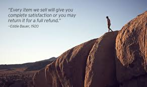 every item we sell will give you plete satisfaction or you may return it for