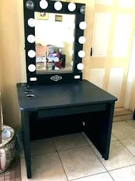 office desk mirror.  Office Office Desk Mirror With Vanity Table Lights  Lighted 3 Black Within   Intended Office Desk Mirror