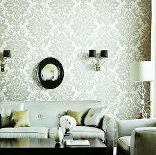 living room wallpapers images pictures photos  white gray fleur de lis wallpaper living room