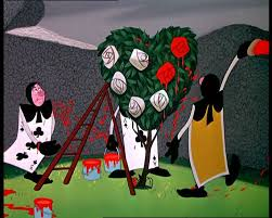painting the roses red heart topiary deck of cards