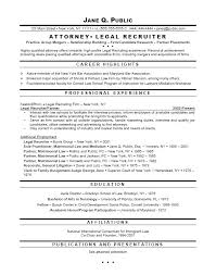 Sample Resumes For Lawyers