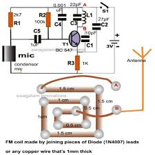 fm wireless microphone circuit and functioning homemade circuit