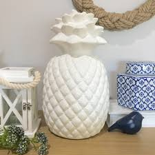 Kitchen Ornament Huge 35cm Ceramic Pineapple Shelf Ornamental Tropical Kitchen