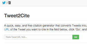 Tweet Cite  A great Twitter citation generator for research