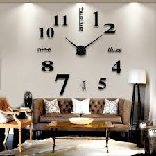 For Living Room Decorations Popular Large Decorative Wall Clocks Buy Cheap Large Decorative