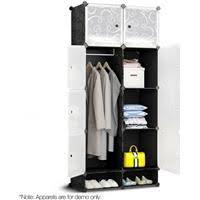 vidaXL <b>3-Tier Wardrobe</b> Basement Bedroom Attic <b>Closet Clothes</b> ...