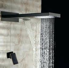 oil rubbed bronze shower head and handheld combo ceiling mount with square kohler delta rain