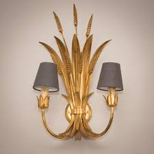 these are an unusually large pair of toleware wheatleaf wall lights