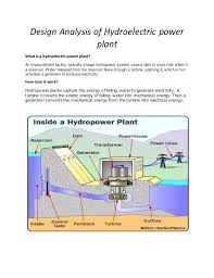 hydroelectric generator diagram. Design Analysis Of Hydroelectric Power Plant What Is A Hydroelectricpower Plant? An Impoundment Facility Generator Diagram N