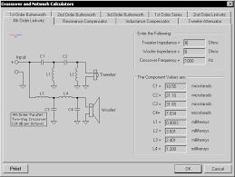 Speaker Crossover Frequency Chart About Winspeakerz Loudspeaker Design Software For Windows