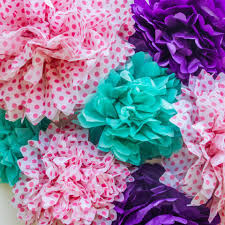 how to make tissue paper pom poms and