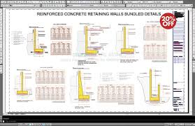 Small Picture Concrete Retaining Walls Bundled Drawing Details