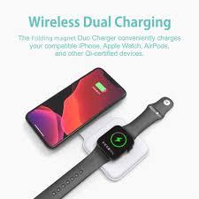 15W Từ Tính Không Dây Bộ Đôi Cho iPhone 12 Max Pro Mini Magsafing 2in1  Không Dây Nhanh Chóng Sạc Cho Apple Iwatch 6 Hoặc Tai Nghe Airpods|Sạc  không dây