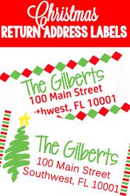 Best 25 Christmas Return Address Labels Ideas On Pinterest