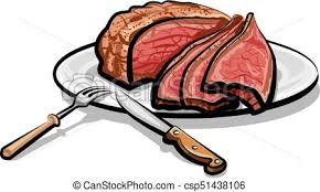 beef clipart. Plain Clipart Beef Clipart Illustration Of Cooked Roast Meat On Plate Vector For Beef Clipart A