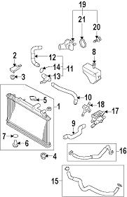 parts com® mazda 6 radiator components oem parts 2006 mazda 6 mazdaspeed l4 2 3 liter gas radiator components