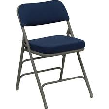 hercules hinged fabric padded folding chair 4 pack navy blue toptrade