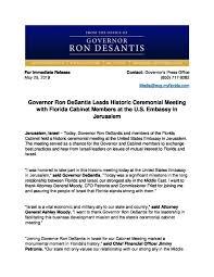 governor ron desantis leads historic