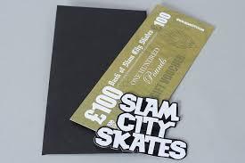 more views slam city skates gift voucher card