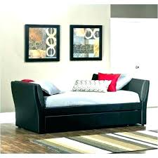 black faux leather daybed with trundle bed pottery barn white