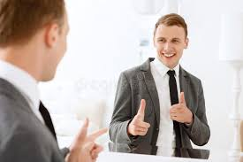 looking in mirror. Fine Mirror Download Man Looking In Mirror And Pointing On Himself Stock Image   Of Background Throughout Y