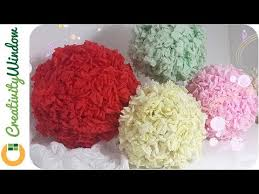 Crepe Paper Flower Balls Cheaper Than You Think Paper Flower Ball
