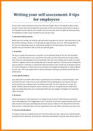Examples Of Writing A Self Evaluation For Performance Review