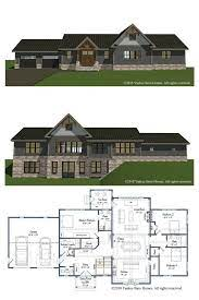 Log post & beam designs & floor plans. Single Level Partial Post And Beam Homes The Rosewood Barn Homes Floor Plans Barn Style House Plans Barn Style House