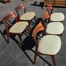 vine mid century five rosewood danish dining chairs by erick buch beautiful rosewood frame fabric