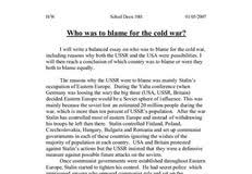 was the cold war inevitable essay example essay about myself spm was the cold war inevitable essay