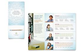 tri fold school brochure template academic tutor school brochure template word publisher