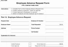 Employee Transfer Form Template Fresh Cash Advance Agreement ...