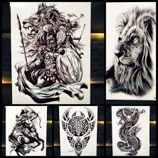 бог войны временные татуировки наклейки для мужчин Body Art черный