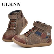 ulknn casual shoes kids boys tenis menino genuine leather retro side zipper children shoes boys leather brand chaussure enfant running shoes for toddlers
