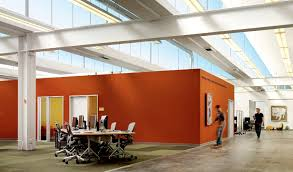 silicon valley office. View In Gallery Bright Orange Conference Room Structure Sits The Middle Of An Open Area Via Bustler Silicon Valley Office O