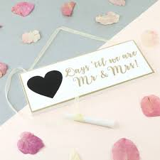 sass & belle gold wedding countdown plaque lisa angel Wedding Countdown Photos sass & belle gold and white wedding countdown plaque wedding countdown images