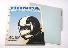 honda vt1100 shadow set up instructions wiring diagram official 1987 1988 honda vt1100c 1100 shadow service manual