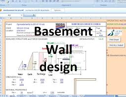 basement wall design. Basement Wall Design Excel Sheet Basement Wall