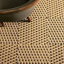 rugs round rug casual natural fiber and blue border seagrass 8x10 beige