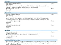 Bistrun Different Types Of Resumes Resume Layout Com Some