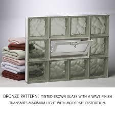 bronze glass block pattern frosted glass block pattern redi2set basement window
