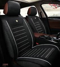 details about breathable linen fabric universal car seat cover front rear seat protector mat
