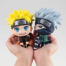 Kawaii Q Posket Naruto Look Up Anime Hatake Kakashi Uzumaki PVC Action  Figure Model Ornaments Collection Toys
