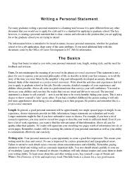 Example Of Personal Statement For Resume Cv New Business Graduate Short And Concise Personal Statement 4