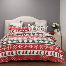 Top 10 Best Christmas Bedding Sets 2017 | Heavy.com & Bedsure Reversible Printed Christmas Quilt Set Adamdwight.com