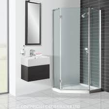 ... Beauteous Bathroom Decoration Using Various Tile Shower Wall Design :  Drop Dead Gorgeous Modern Black And ...