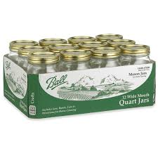 ball wide mouth canning jars 12 count