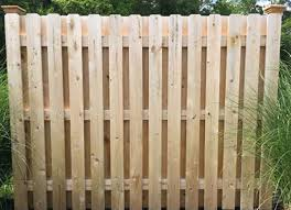semi private cedar wood shadowbox fence with 1 x 5 pickets and 13