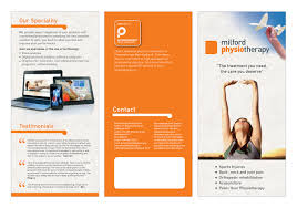 Physiotherapy Leaflet Design Bold Modern Education Brochure Design For Milford