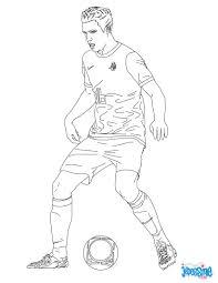 Coloriage Du Joueur De Foot Robin Van Persie Imprimer